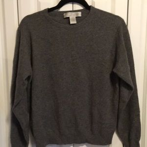 Sweaters - 100% Grey Cashmere Sweater-L